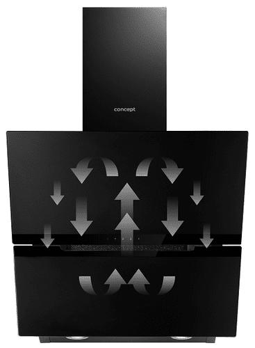 Komínový odsávač pár Concept OPK5860bc Recirkulácia