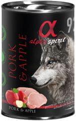 Alpha Spirit Pork & Apple hrana za pse, svinjetina, jabuka, 400 g
