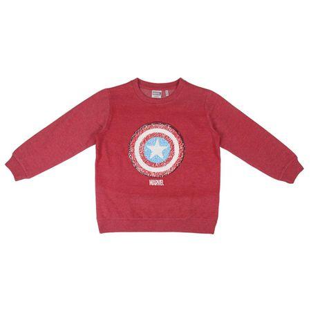 Disney fantovski pulover, 116, rdeč