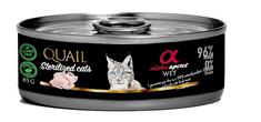 Alpha Spirit Quail Sterilized mačja hrana, za sterilizirane prepelica, 85 g