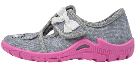 3F papuče za djevojčice barefoot 13/5, 23, sive