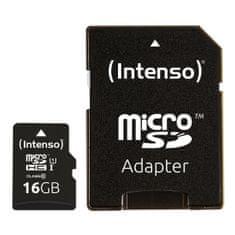 Intenso Premium Micro SDXC memorijska kartica, 16 GB, 45 MB/s, UHS-I + SD adapter