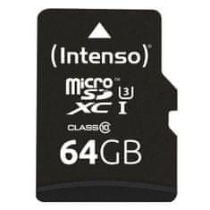 Intenso Pro Micro SDXC memorijska kartica, 64 GB, 90 MB/s + SD adapter