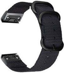 Tactical 675 Nylonowy pasek do zegarka Garmin Fenix 5X/6X QuickFit 26mm Black, 2453240