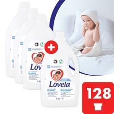 Lovela Baby tekutý prací přípravek na bílé prádlo 11,6 l / 128 pracích dávek (3+1 zdarma)