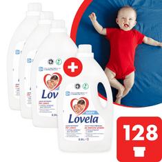 Lovela Baby tekutý prací přípravek na barevné prádlo 11,6 l / 128 pracích dávek (3+1 zdarma)