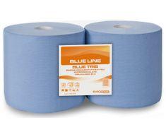 Drozd Papírová průmyslová utěrka 3-vr.celulóza modrá 190m balení 2 role