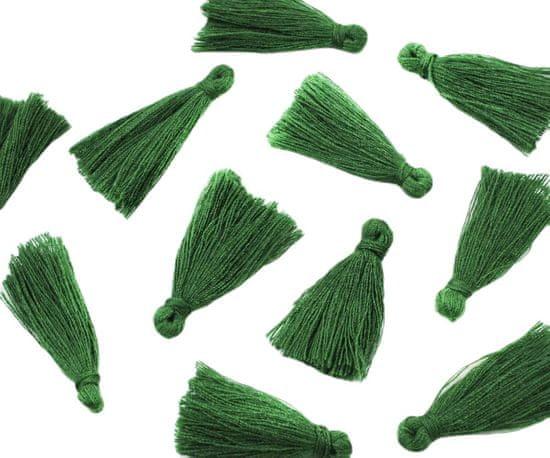 Kraftika Střapečky z bavlněných sňůrek, zelené, na tvoření