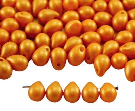 Kraftika 40db arany ragyog minimális narancsvörös matt gyöngy