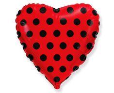 "GoDan Fóliový balón 18"" Srdce - červená"