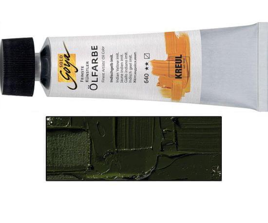 Kraftika Olejová barva solo goya zelená země v tubě 55 ml