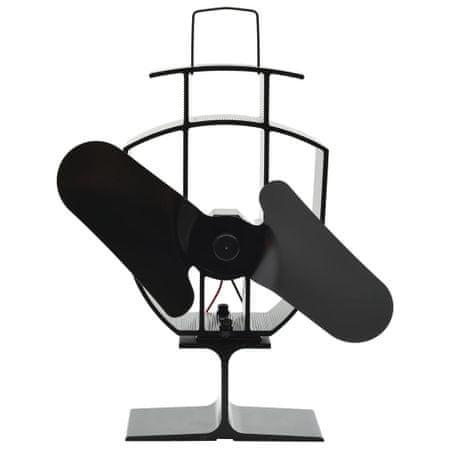 shumee fekete hővel meghajtott kétlapátos kandalló ventilátor