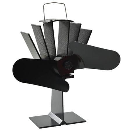 shumee Zasilany ciepłem wentylator kominkowy, 2 łopatki, czarny