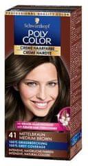 Schwarzkopf Poly Color kremna barva za lase, 41 Medium Brown
