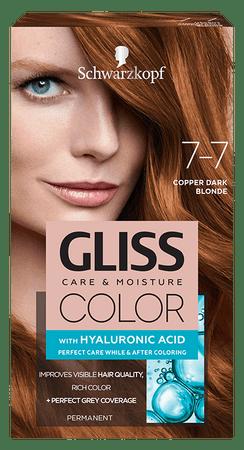 Schwarzkopf Gliss Color Care & Moisture barva za lase, 7-7 Copper Dark Blonde