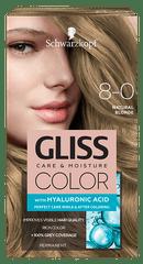 Schwarzkopf Gliss Color Care & Moisture boja za kosu, 8-0 Natural Blonde