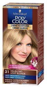 Schwarzkopf Poly Color kremna barva za lase, 31 Light Blonde