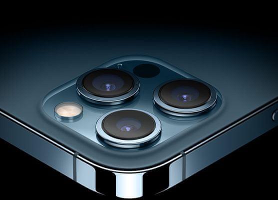 Apple iPhone 12 Pro Max, duální širokoúhlý ultraširokoúhlý fotoaparát vylepšený noční režim optická stabilizace obrazu Smart HDR
