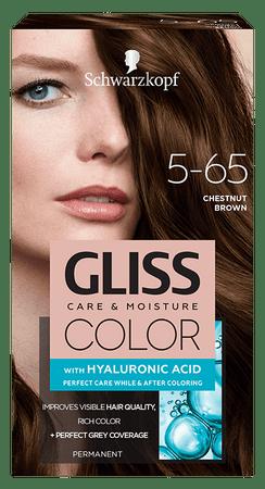 Gliss Color Care & Moisture barva za lase, 5-65 Chestnut Brown