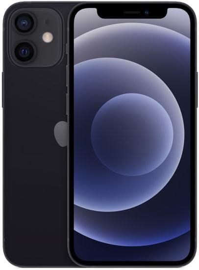Apple iPhone 12 mini, 128GB, Black + bezdrátová nabíječka ZDARMA!