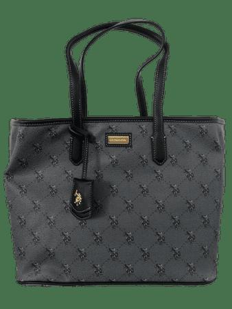 U.S. POLO ASSN. fekete kézitáska HAMPTON Medium Shopping