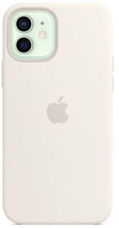 Apple iPhone 12/12 Pro Silicone Case ovitek, MagSafe, White