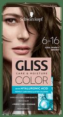 Schwarzkopf Gliss Color Care & Moisture boja za kosu, 6-16 Cool Pearly Brown