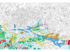 OMY DESIGN & PLAY Vymalovánky MAXI Džungle