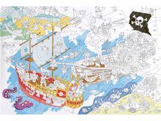 OMY DESIGN & PLAY Vymalovánky MAXI Piráti