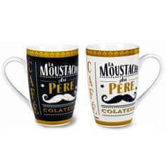 """Natives , Vintage, Šálky káva čaj XL sada 2ks """"Pére colateur"""" 8,5x13 cm - 450ml, porcelán, 312180"""