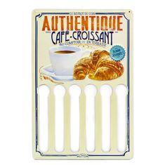 """Natives Vintage Závesný držiak na kávové kapsule """"Café croissant"""" 30cm x H.45cm, plech, 800200"""