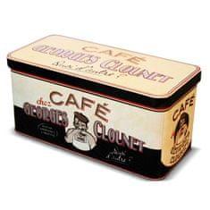 """Natives , Vintage, Dóza na kávové kapsule """"Georges Clounet"""" 16.5x7.5x8cm, plech, 211140"""