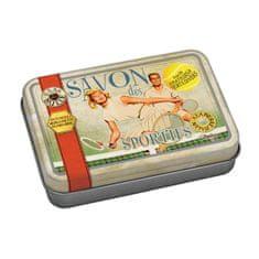 "Natives , Vintage, Mydlo v krabičke ""savon des sportifs"" 9,5x6,7x2 cm - 100 gr, plech, 611370"