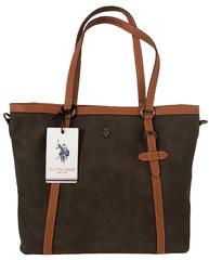 U.S. Polo Assn. hnědá kabelka HOUSTON NABUK Shopping