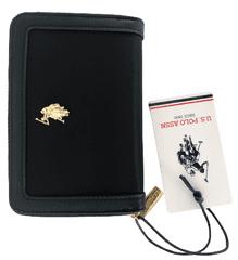 U.S. Polo Assn. dámská černá peněženka HOUSTON medium zip around
