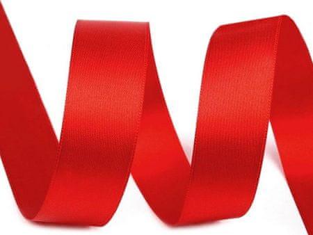 Kraftika 20m 080 620 czerwony wstążka satynowa dwustronna szerokość