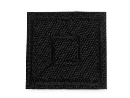 Kraftika 10szt 15 czarny naprasowanka kwadrat, naprasowanki