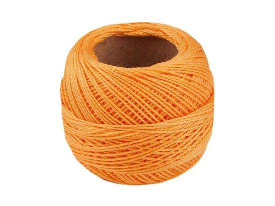 Kraftika 10ks apricot vyšívací příze perlovka niťárna, háčkovací
