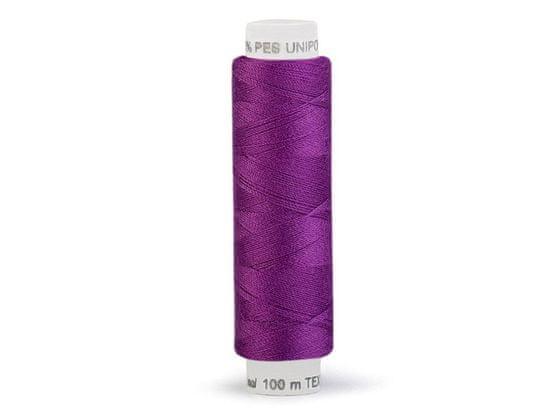 Kraftika 10ks fialová purpura polyesterové nitě unipoly návin 100m