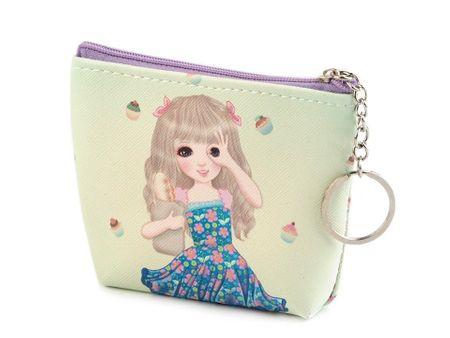Kraftika 1db 3 lightgreen girls érme pénztárca 10x12 cm