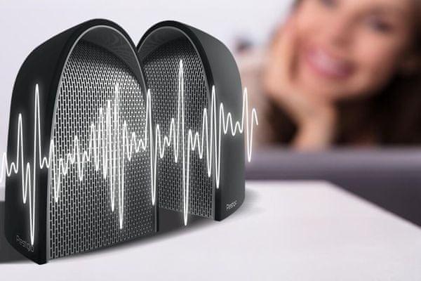 nowoczesny głośnik bluetooth true wireless stereo prestigio supreme moc 16 w magnetyczna konstrukcja mikrofon do rozmów w trybie głośnomówiącym nowoczesny kształt ładowanie usb obsługa asystentów głosowych