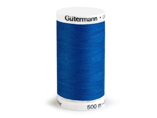 Kraftika 1ks dazzling blue polyesterové nitě návin 500m gütermann