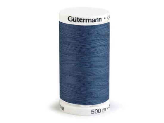 Kraftika 1ks blue indigo polyesterové nitě návin 500m gütermann