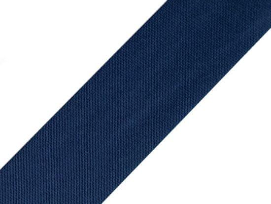 Kraftika 20m estate blue šikmý proužek saténový šíře 20mm zažehlený,