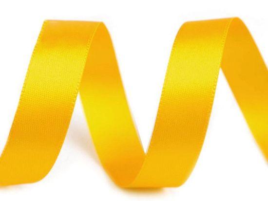 Kraftika 5m cyber yellow atlasová stuha oboulící svazky po 5m šíře