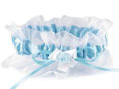 Kraftika 1ks 9 modrá azurová svatební podvazek dvojitý šíře v