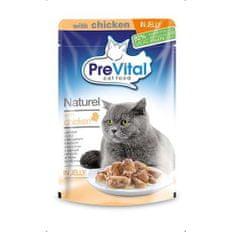 PreVital Naturel kapsičky pro kočky 85g kuře v žele