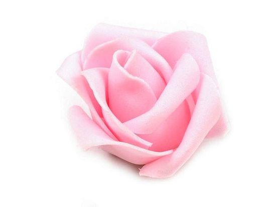 Kraftika 10ks růžová sv. dekorační pěnová růže ø4,5cm