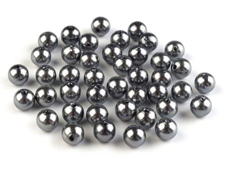 Kraftika 10g 60 szürke műanyag utánzat gyöngy gyöngyök pillantásra