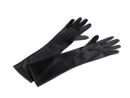Kraftika 1para (40cm) czarny długie rękawiczki wizytowe satynowe